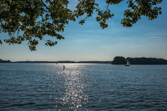 Der Tegeler See, Surfer, Segelboot